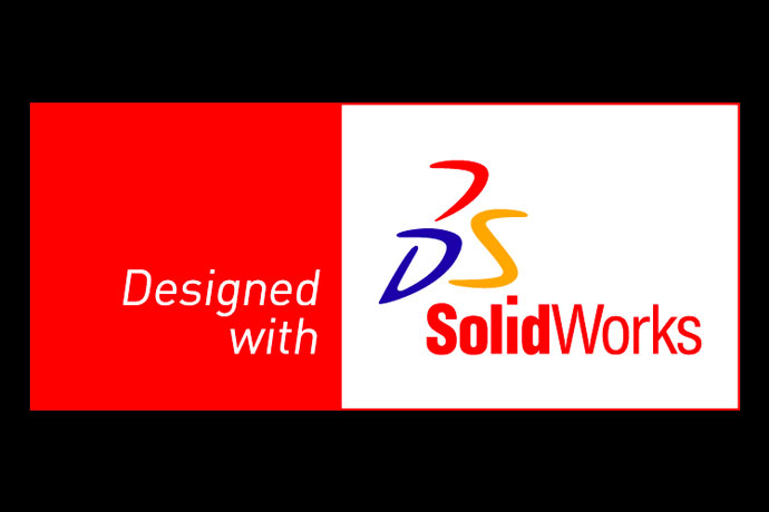 Designed with Solidworks